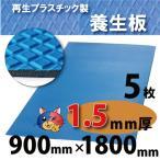 ワニ印・ダイヤボード無発泡養生プラスチックベニヤ板・青<1.5mm厚>900×1800mm 5枚(004949)