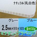 ミナダン(プラスチックダンボール)【2.5mm】x910x1820【20枚】《送料無料》【54.000円以上ご購入で3%値引き】