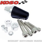 【正規品】KOSO汎用マフラースライダー銀SMAXマジェスティSマジェスティ125シグナスXシグナスZ/BWS125X/BWS-R/BWSR/BW'S125X/BW'S-R/BW'SR等に