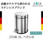 ゴミ箱 ステンレス ごみ箱 ダストボックス ペーパーバスケット トラッシュカン 3L ペダル式 小型 シンプル おしゃれ ZACK 送料無料
