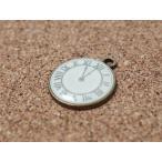 アンティーク時計チャーム(約17.7*21.47mm) 11時 チャーム アクセサリー パーツ 手芸 ストラップ ハンドメイド 時計