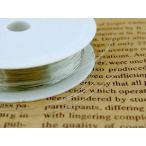 アーティストワイヤー カッパーワイヤー 約50m線径0.2mm #32 銅 シルバー アクセサリーパーツ ビーズパーツ ワイヤーアート