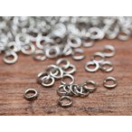 丸カン(約3mm)約300個セット シルバー 線径0.5mm 丸環 リング 連結金具 カン類 アクセサリーパーツ ビーズ ネイル 手芸材料 基本 素材