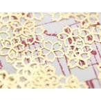 メタルパーツ約50個 さくら 桜 約5mm×5mm ゴールド ネイルアートパーツ 透かしパーツ ジェルネイル レジン デコ 埋め込み 素材