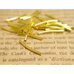 曲パイプ(約20mm・径約2mm)約25個セット ゴールド チューブ メタルパイプパーツ ビーズアクセサリー レザークラフト 副資材 素材 材料