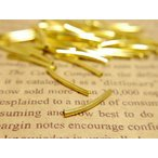曲パイプ(約20mm・径約2mm)約50個セット ゴールド チューブ メタルパイプパーツ ビーズアクセサリー レザークラフト 副資材 素材 材料