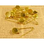 台座付ブローチピン ラウンド 約10本 ゴールド 約19mm