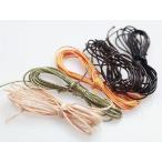 ロー引き紐 径約1.2mm・スタンダード5色x約2m ポリエステル カラーワックスコード ロウヒモ 丸紐 ロープ アクセサリーパーツ 手芸材料