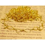 デザインチェーン ラウンドxひし形 約1Yx2本 ゴールド 幅(最大)約8mm アクセサリーパーツ 手芸用品 ハンドメイド小物 副資材 材料