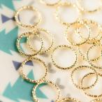 日本製デザイン丸カン(約8mm)約25個 ゴールド 飾り丸カン フープ メタルパーツ ビーズ手芸 ネイル レジン材料 チェーンメイル素材