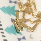 日本製ダルマカン(約2x10mm)約25個 ゴールド/板ダルマ/板カン/留め具/アクセサリーパーツ/ビーズ用品/手芸材料/メタルパーツ/金具