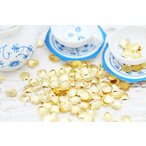 メタルパーツ/スタッズ/シェル/小(約3.5x3.5mm)約100個 GOLD/アートパーツ/埋め込み/封入資材/ネイル用品/レジン材料/デコ素材/部品