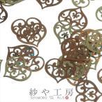 ショッピング薄型 薄型メタルパーツ オリエンタルハート(約6x7mm)約50個 ゴールド アートパーツ 埋め込み 封入資材 ネイル用品 デコ素材 手芸材料 部品