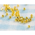 カシメ玉(約2mm)約100個 ゴールド  金 つぶし玉 ボールチップ アクセサリー 留め具 アクセサリーパーツ ビーズ 手芸材料 基本 素材