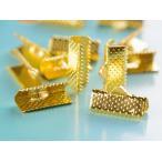 レース留め(約16mm)20個 ヒモ留め ゴールド 金 フック 金具 ハンドメイド リボンパーツ アクセサリーパーツ金具 手作りリボン 止め具