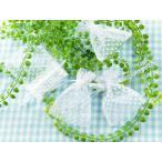 ジュエリー袋 水玉模様(約10x7.5cm)約50枚 ホワイト オーガンジー ジュエリーケース ポーチ 巾着袋 アクセサリー入れ 包装用品 手芸