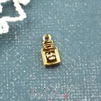 チャームミニ 香水瓶(約11x5mm)ゴールド 1個 パフュームボトル カン付き コスメ ハンドメイド アクセサリーパーツ 手芸 資材 レジン