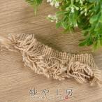 ショッピングフリンジ 紗や工房 フリンジレース ニット風リボン ベージュ 約10cm