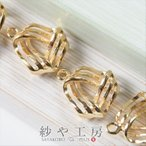 チャーム 3本ラインのねじりチャーム ゴールド 12mm 4個 アクセサリーチャーム ピアス イヤリング ネックレス 約1.2cm アクセサリーパーツ パーツ