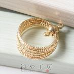 チャーム リングの束チャーム 2カン付 ゴールド 18.6mm 1個 アクセサリーチャーム ピアス イヤリング ネックレス 約1.9cm アクセサリーパーツ パーツ