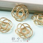チャーム 5つのデザインリングのつなぎパーツ ゴールド 17.7mm 4個 アクセサリーチャーム ピアス イヤリング ネックレス 約1.8cm アクセサリーパーツ パーツ