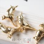 チャーム ミニ小鳥チャーム 真鍮製 ゴールド 12mm 4個 アニマル アクセサリーチャーム ピアス イヤリング ネックレス 約1.2cm アクセサリーパーツ パーツ