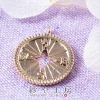 チャーム 方位磁石 ゴールド 15mm 1個 1ヶ 方位磁針 コンパス 真鍮 アクセサリーチャーム 羅針盤 磁気コンパス 道具 バッグチャーム 約1.5cm