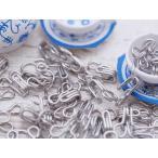 スプリングホック/1号/約25組 シルバー/かぎホック/鍵ホック/金属ホック/手芸雑貨/手作り材料/クラフト用品/裁縫道具/素材/資材