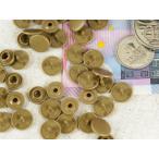 【お盆も発送!】  プラスチックスナップボタン(T-3) マットカラー 30組(10mm こげ茶) ハンドプライヤー 手芸材料 ボタン