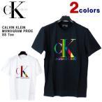 カルバンクライン Tシャツ Calvin Klein (カルバンクライン) メンズ 半袖Tシャツ モノグラムプライド プリント ロゴ 半袖 Tシャツ ビッグサイズ 41VM857