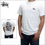 ステューシー Tシャツ STUSSY (ステューシー) メンズ 半袖Tシャツ プリント 半袖 Tシャツ ロゴ Tシャツ FIRE DRAGON S/S TEE (NATURAL) 1904034