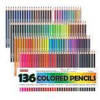 Shuttle Art 色鉛筆 カラーペン 136色セット 大人の塗り絵 スケッチ イラスト 落書き 手帳 ノード子供用 プレゼント 入園・入学お祝い