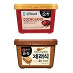 スンチャン コチュジャン 500g テンジャン 500g お得な2点セット 清浄園 | 韓国 唐辛子味噌 韓国味噌 韓国 みそ 韓国の伝統的な調味料