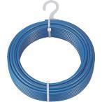 TR TRUSCO メッキ付ワイヤロープ PVC被覆タイプ Φ4(6)mmX100m 1巻