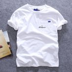 Tシャツ メンズTシャツ 半袖Tシャツ 綿Tシャツ メンズ プリントシャツ トップス カットソー アメカジ ロゴT 夏物 インナー カレッジ カジュアルの画像