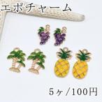 エポチャーム フルーツ 葡萄 椰子の木 パイナップル ゴールド【5ヶ】