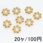 【20個】メタリックパーツ メタルパーツ ロンデル33