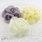コサージュ 入学式 コサージュ 結婚式 花 薔薇ブローチクリップc73