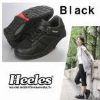 ショッピングウォーキングシューズ ウォーキングシューズ (Heeles(ヒーレスウォーカー)) 〔22.0cm〕 ブラック(黒)