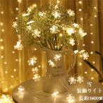 LED電飾 クリスマス イルミネーションライト 装飾ライト 3m スノーフレーク 20個 クリスマスツリー 雪 装飾 乾電池式 オーナメント 飾り 屋外 室内