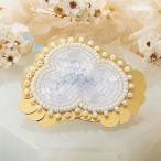 TOHOビーズ刺繍のアクセサリーキット「MAISON DE BRODERIE」メゾン ド ブロドゥリ MDB-1 CLOUD brooch  (メール便可・取り寄せ商品)