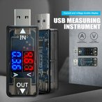 RED & BLUE デュアルディスプレイ USB 充電器 バッテリーテスター 容量テスター電圧電流計チェッカー
