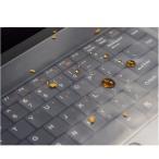 防水 13 / 15.6インチサイズ ノートパソコンキーボード保護フィルム キーボードカバー 汚れ防止 シリコン防塵フィルム 水洗いOK