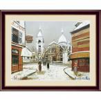 インテリアアート(額絵) 世界の名画 ユトリロ作 モンマルトルのサン=ピエール教会とサクレ=クール寺院 約横52×縦42cm(F6サイズ)g5151