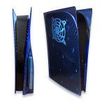 PS5 本体専用 (ディスク版) スケルトン保護カバー PS5 クリア ダストカバー 交換用パネル 上質ABS製 (3glad products)