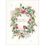 グリーティングカード クリスマスカード「クリスマスリース」 メッセージカード
