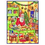ドイツ製 アドベントカレンダー サンタとクッキー作り