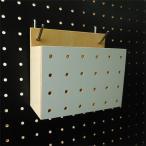 フック 小物入れ 有孔ボード用  白 床材本舗オリジナル 穴ピッチ5φ-25P/8φ30P対応 UKB-CASE-W ポスト投函の画像
