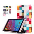 (液晶保護フィルム一枚付き)docomo dtab Compact d-02h / Huawei MediaPad M2 8専用保護ケース 彩色上絵 オートスリップ 高級PUレザーケース(スクエア)
