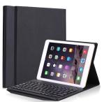 ショッピングAIR iPad air1/iPad air2/ iPad pro 9.7/ 2017 iPad 9.7/2018 iPad 9.7専用保護ケース・キーボード アルミキーボード 超薄型保護ケース 分離可能 (ブラック)